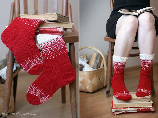 Вязание спицами носков лучшие