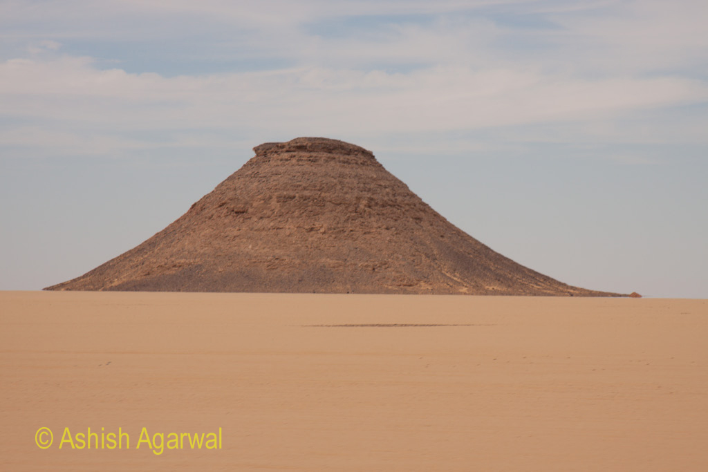Hillock seen on the way to the temple of Abu Simbel in south Egypt