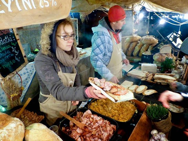 Street Food en el Mercado de Navidad de Cracovia