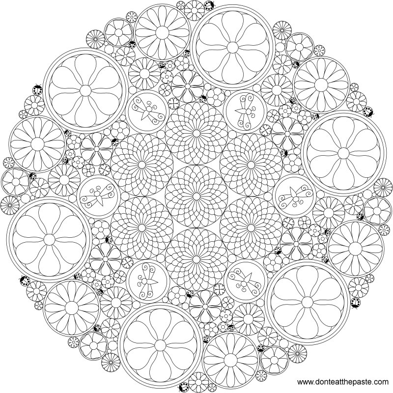 intricate floral mandala to color - Intricate Mandalas Coloring Pages
