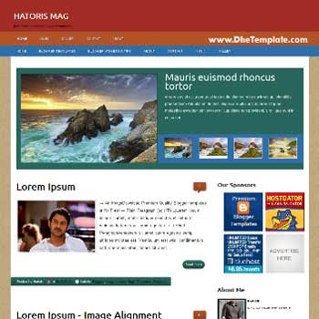 Historis Mag blogger template. blogger template adapted from wordpress theme. blogger template with featured image slider. blogger template magazine style