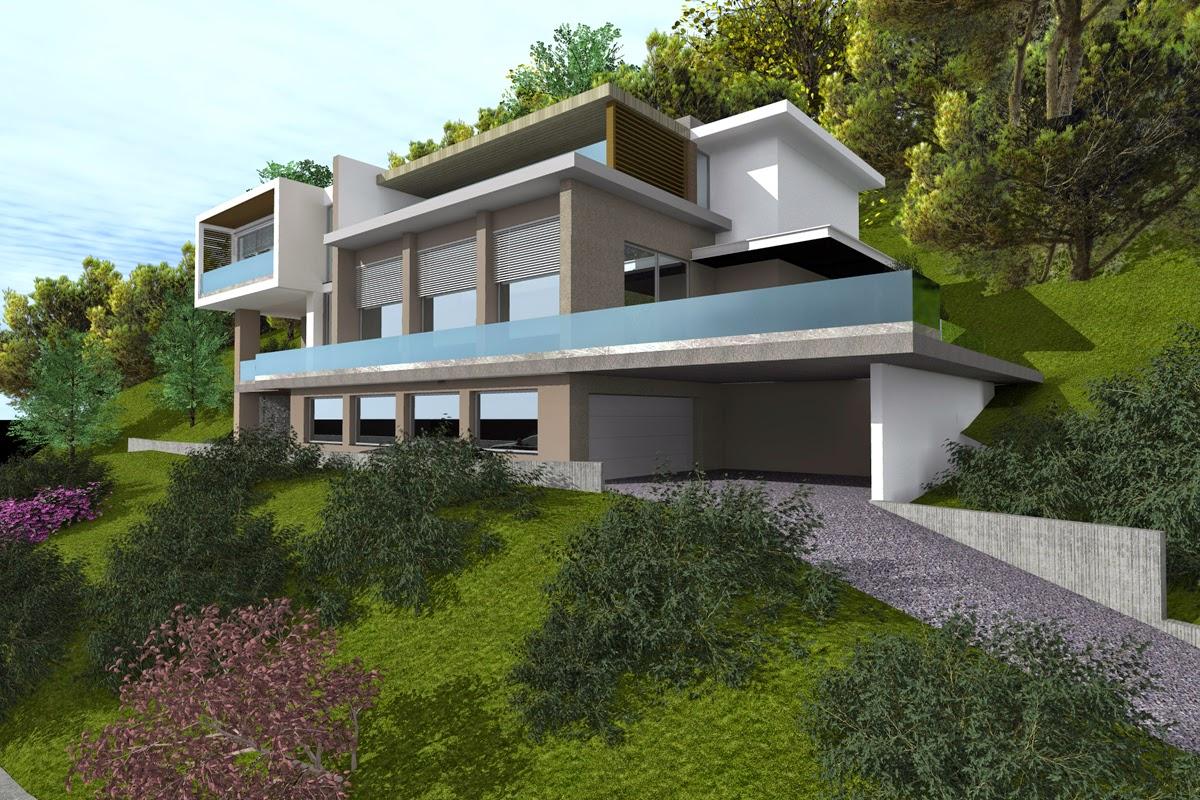 Studio randetti progettazione design villa moderna for Villa moderna