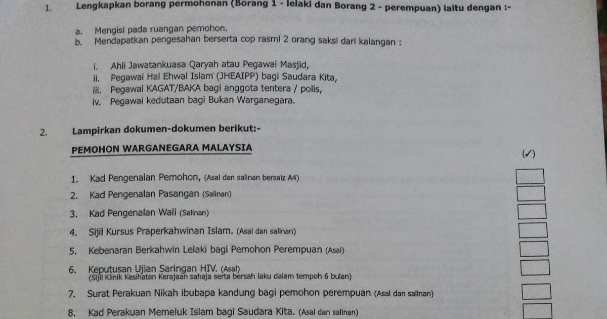Ini Blog Miss Pumpkin Proses Pendaftaran Nikah Pulau Pinang