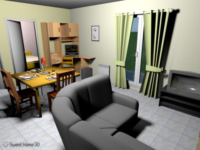 sweet home 3d aplica o de design interior tutorfree. Black Bedroom Furniture Sets. Home Design Ideas
