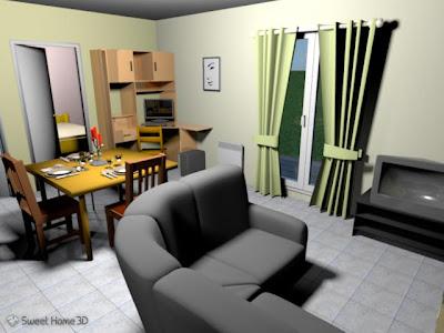 O Programa Sweet Home 3D, Para Linux , Trabalha Com Design De Interiores é  Capaz De Criar Ambientes De Casa Com Móveis, Textura Nas Paredes, Pisos, ...