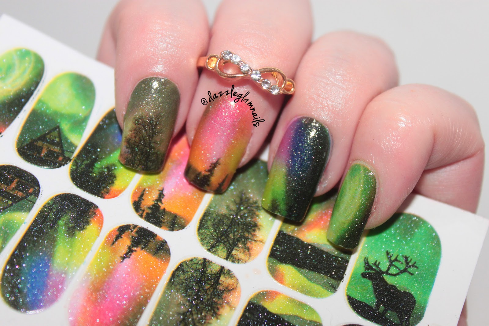 Dazzle Glam Nails   Nail Art Blog: Northern Lights Nail Art Tutorial