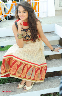 Asmita Sood Latest Pictures in Salwar Kameez at at Aa Aiduguru Movie Opening  0012