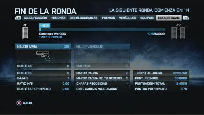 Soy 0 0 7 en el juego Battlefield 3