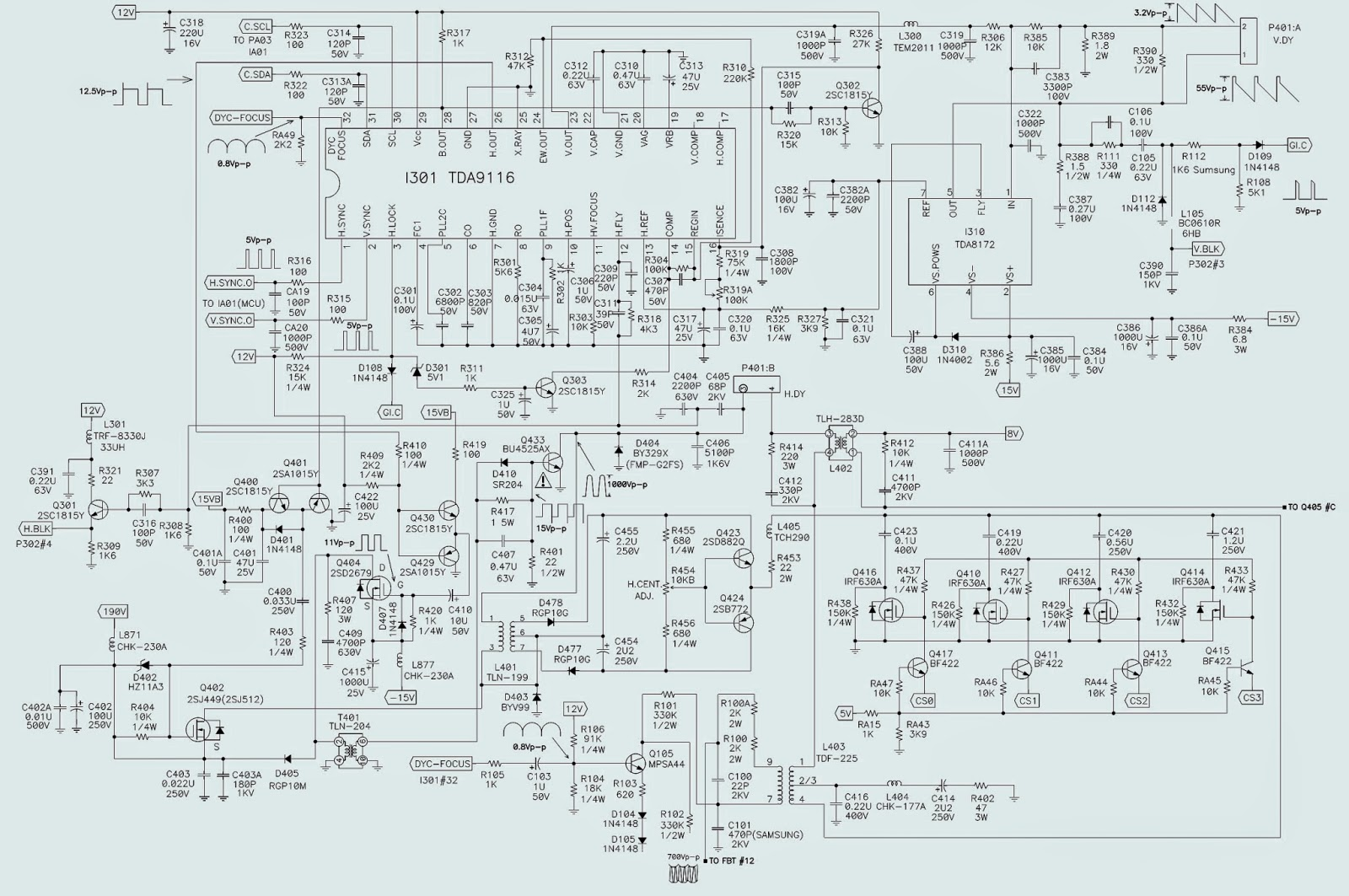viewsonic a90f vcdts23307 2r smps h out and v out schematic
