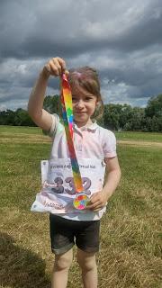 eldest with running medal