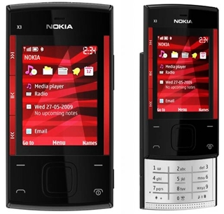 Nokia X3 Mobile Phone, Nokia X3