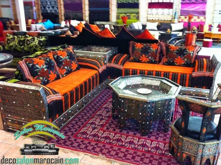 Salon marocain cuivrique majestueux 2014