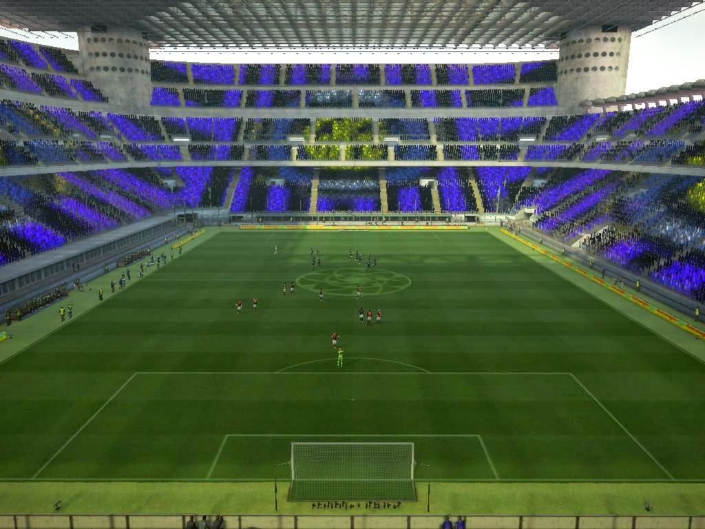 ... Kurniawan Blog: Giuseppe Meazza Stadium Turf & Coreografi PES 2013