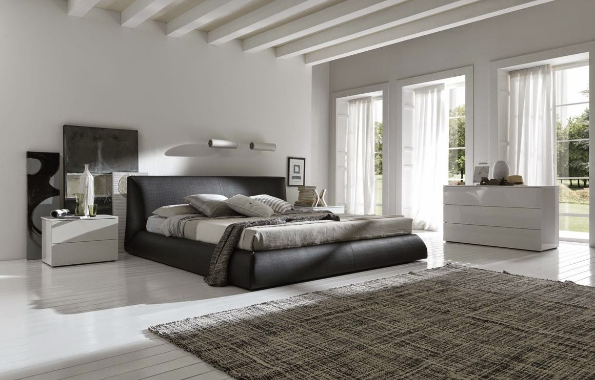 White Bedroom Design Modern Black
