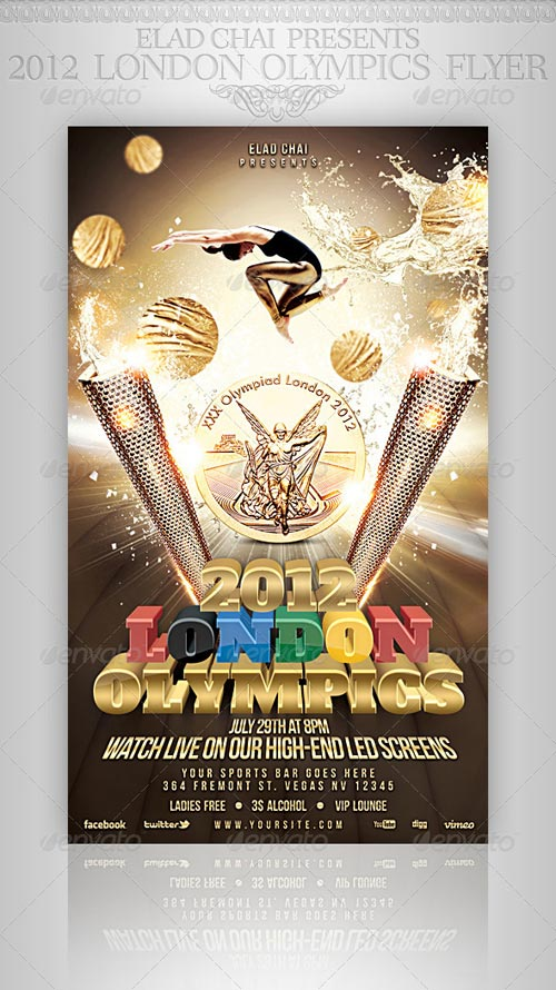 Flyer Template - London Olympics 2012