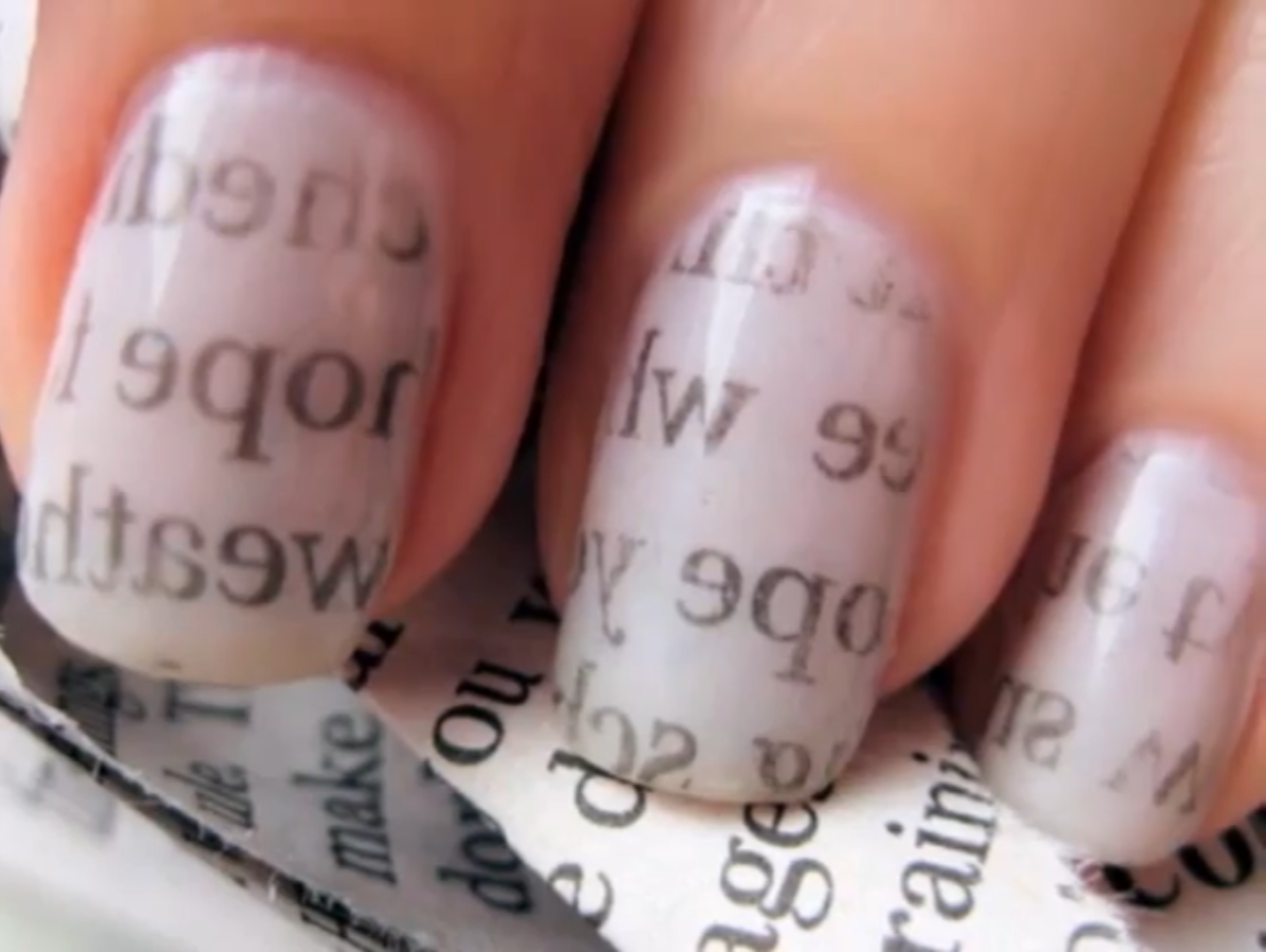 Nail Designs Spot: Newspaper Nails