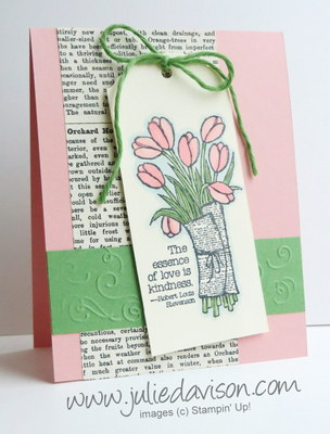 Stampin' Up! Love is Kindness Tag Card with Blendabilities #stampinup #occasions www.juliedavison.com
