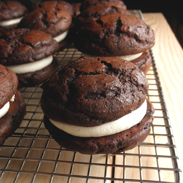 Whoopie Pies with Mascarpone Cream Frosting. Absolutely perfect.