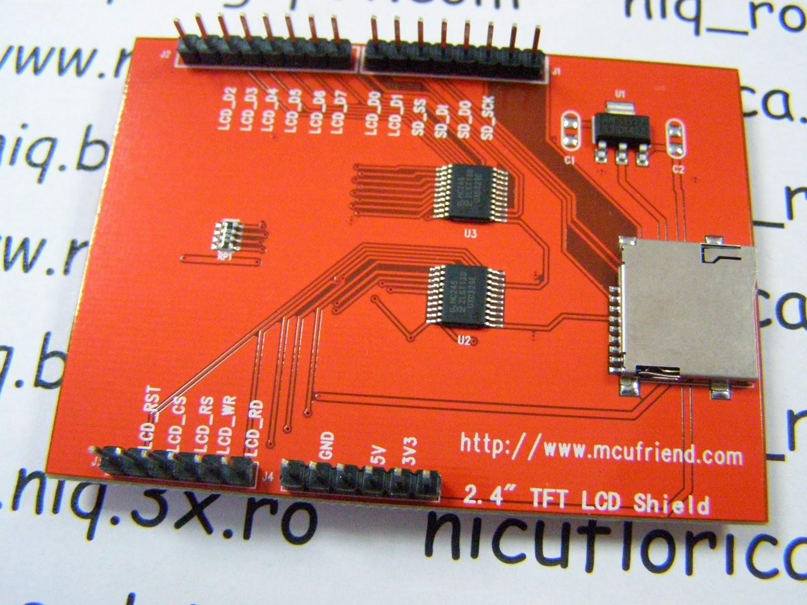arduino tehniq 2 4 touch tft lcd shield rh arduinotehniq blogspot com arduino tft lcd screen wiring I2C Arduino TFT LCD
