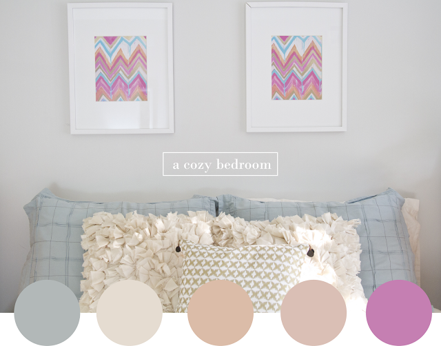 pastel colors bedroom decoration I mariana hodges for sparkyourprint.blogspot.com