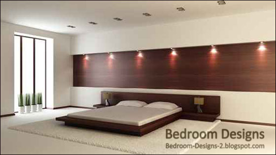 Modern Bedroom Design With Wooden Decorations Beauteous Modern Bedroom Decoration