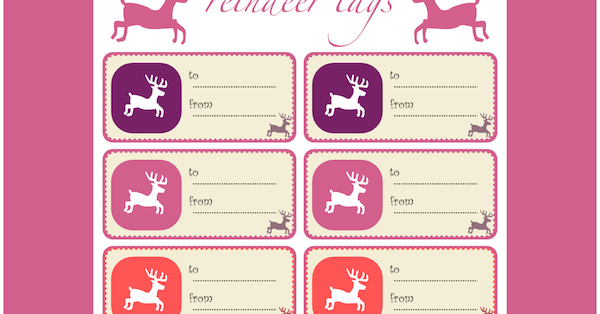 Free printable reindeer gift tags and reindeer wrap paper for Meine wohnung click design free