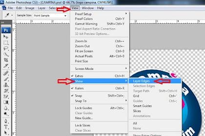 Mengaktifkan layer edges untuk memindahkan obyek
