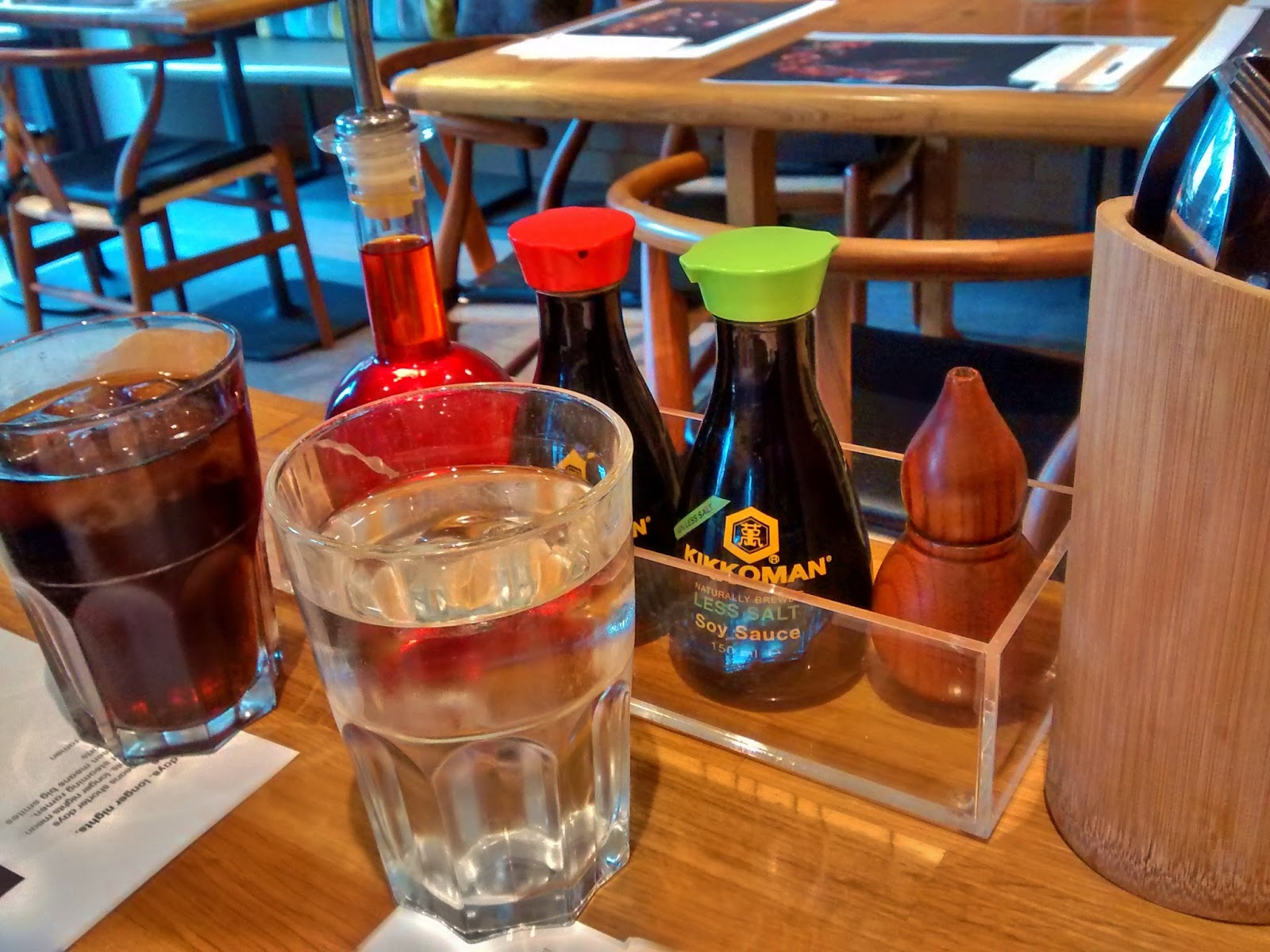 Wagamamas sauces and drinks