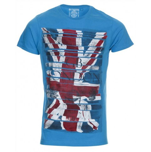 Great Britain Flag printed T-shirt on Blue Inc