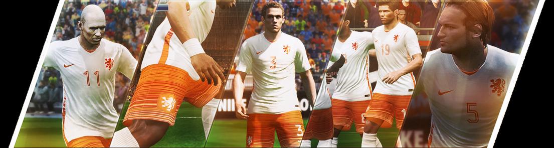Kostum Tandang Timnas Belanda Terbaru untuk PES 2015