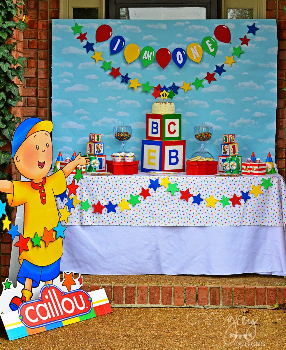 GreyGrey Designs: {My Parties} Caillou Party And Giveaway