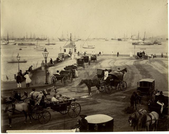 Bombay+(Mumbai)+Harbour+Scene+-+c1880's