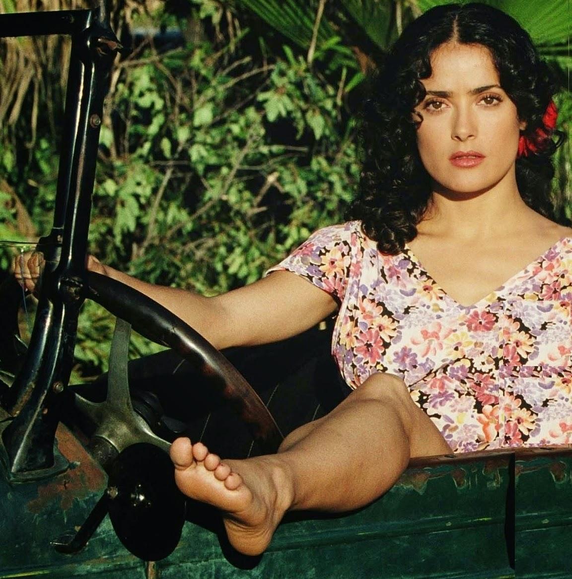 salma hayek bare feet