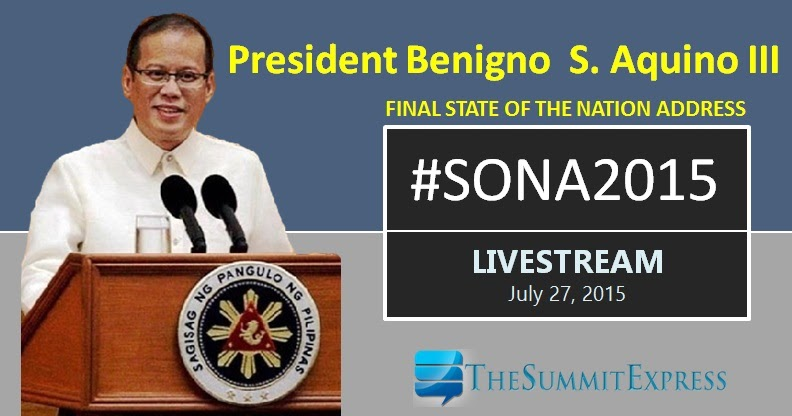 sona of pnoy 2015 2 Watch online: pnoy's sona 2015 replay video and transcripts will be uploaded after the event.