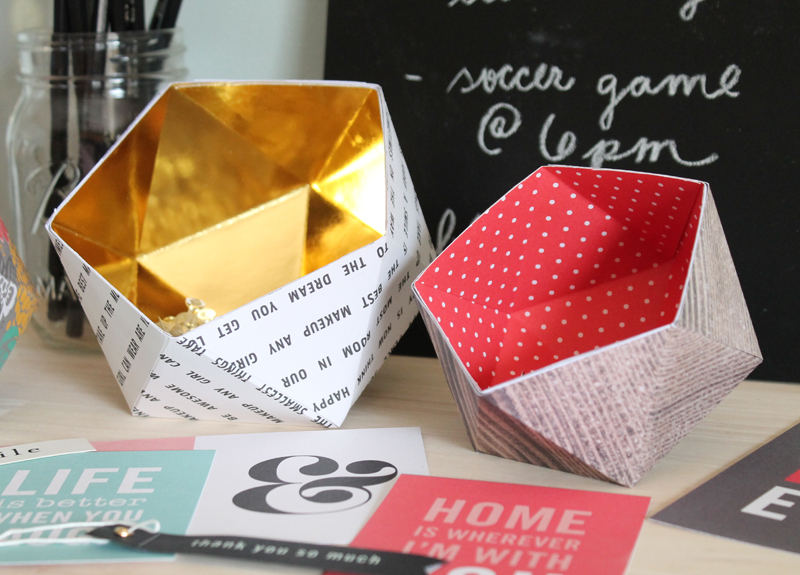 The craft patch diy geometric bowls for Diy paper bowl