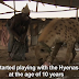 Watch as These Men Walk The Streets of Nigeria with their Pet Hyenas, Baboons, and Python