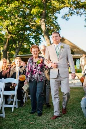 Ryan and Leslie, Seating of Grandparents, Texas Ranch Wedding