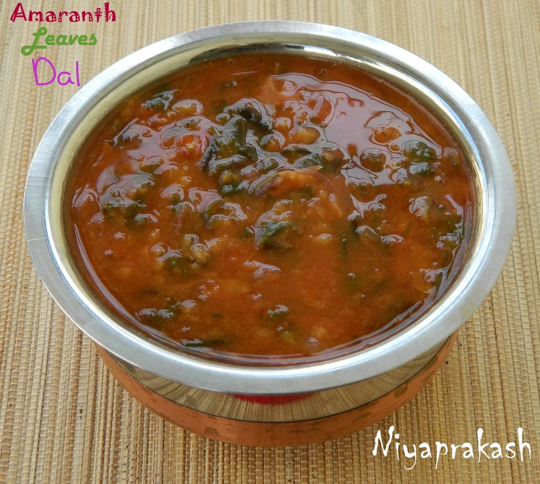 World: Amaranth Leaves Dal (Tambidi bajji galnu North Indian Dal