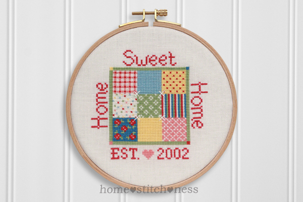 Home Sweet Home cross stitch design by homestitchness