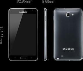 Samsung Galaxy Note 1 Blanc smartphone 5.3
