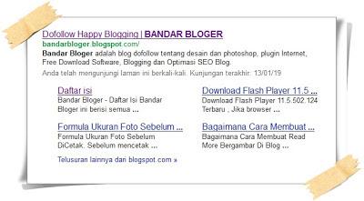 Tips Mendapatkan Sitelink Blog