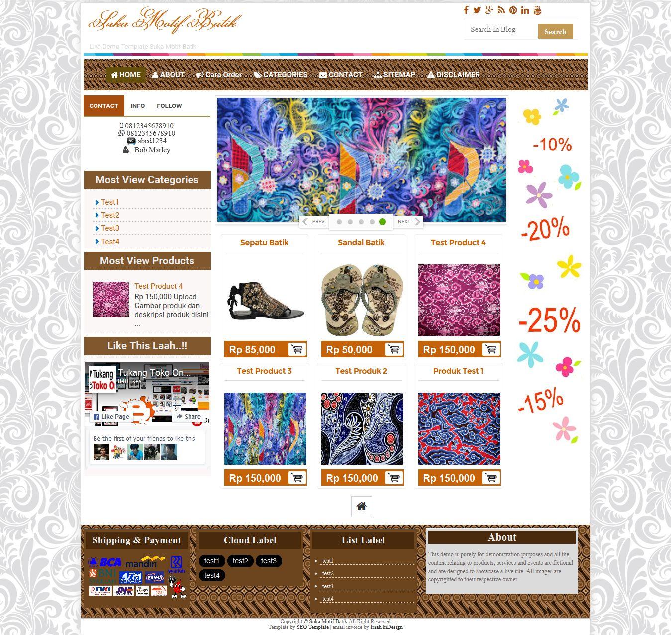 Suka Motif batik Template