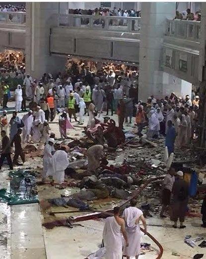 107-deaths-reported-in-crane-collapse-at-mecca-grand-mosque-सऊदी अरब में मक्का मस्जिद पर क्रेन गिरी 107 लोगों की मौत ,  238 घायल