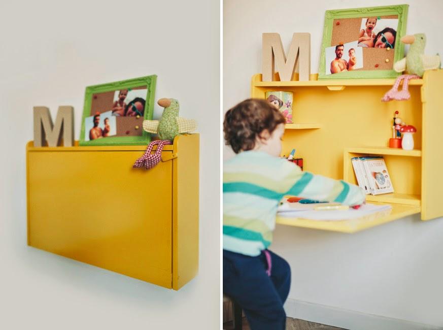 Dormitorio compartido con literas handmade_escritorio