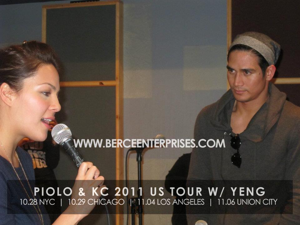 Photos of Piolo Pascual and KC Concepcion in New York