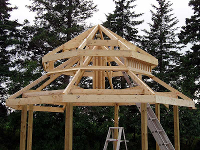 Eventually the entire roof structure was completed.