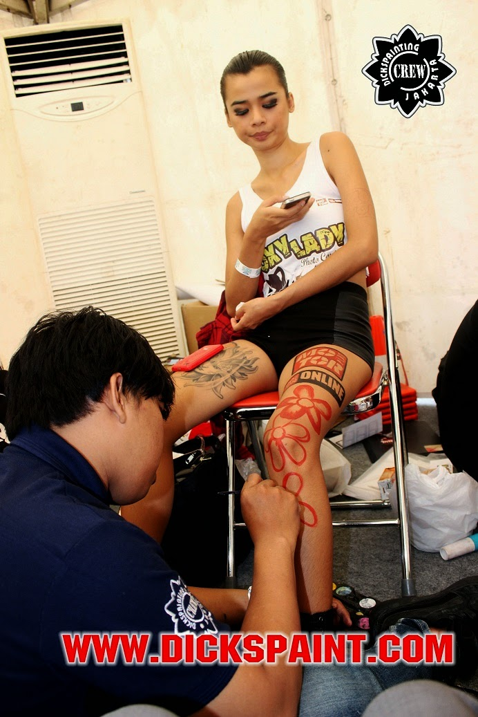 face body painting jakarta kasawaki