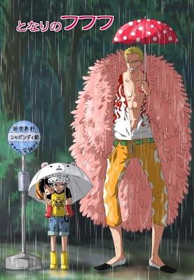 -One Piece -Trafalgar Law -Donquixote Doflamingo -Monkey D Luffy -Totoro