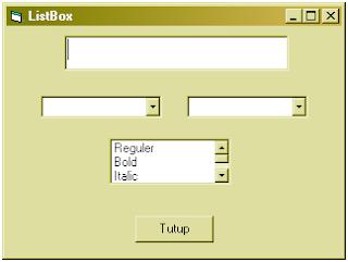 Cara membuat ListBox (VB 6.0)