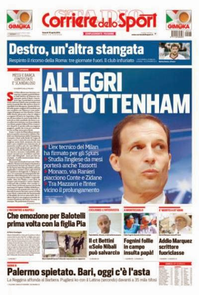 Spurs new boss Massimiliano Allegri